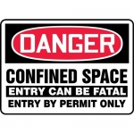 """Accuform MCSP024XV, OSHA Sign """"Confined Space Entry Can Be Fatal…"""""""