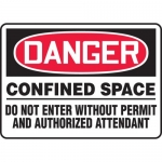 "Accuform MCSP030XV, Sign ""Confined Space Do Not Enter without…"""