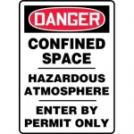 "Accuform MCSP036XL, OSHA Sign ""Confined Space Hazardous Atmosphere…"""