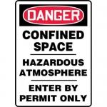 """Accuform MCSP036XP, OSHA Sign """"Confined Space Hazardous Atmosphere…"""""""