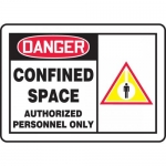 "Accuform MCSP038XL, Sign ""Confined Space Authorized Personnel Only"""