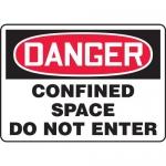 "Accuform MCSP040VA, Aluminum OSHA Sign ""Confined Space Do Not Enter"""
