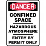 "Accuform MCSP041XL, Sign ""Confined Space Hazardous Atmosphere…"""
