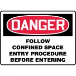 "Accuform MCSP044XP, Sign ""Follow Confined Space Entry Procedure…"""