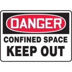 """Accuform MCSP050VP, Plastic OSHA Sign """"Danger Confined Space Keep Out"""""""