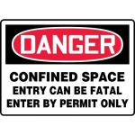 """Accuform MCSP054XP, Sign """"Confined Space Entry Can Be Fatal Enter…"""""""