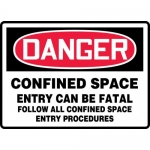 """Accuform MCSP061XP, Sign """"Confined Space Entry Can Be Fatal…"""""""