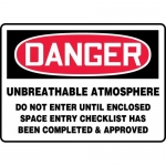"""Accuform MCSP071XL, Sign """"Unbreathable Atmosphere Do Not Enter…"""""""