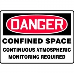 "Accuform MCSP076XL, Sign ""Confined Space Continuous Atmospheric…"""