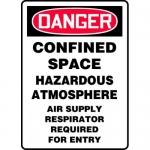 """Accuform MCSP077XP, Accu-Shield Sign """"Confined Space Hazardous…"""""""