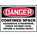 """Accuform MCSP078XP, Sign """"Confined Space Hazardous Atmosphere…."""""""