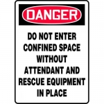 "Accuform MCSP079XL, Sign ""Do Not Enter Confined Space without…"""