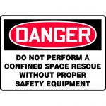 """Accuform MCSP080XP, Sign """"Do Not Perform a Confined Space Rescue…"""""""