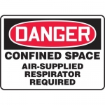 "Accuform MCSP101XL, Sign ""Confined Space Air Supplied Respirator…"""