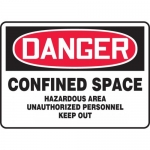 "Accuform MCSP104XL, OSHA Sign ""Confined Space Hazardous Area…"""