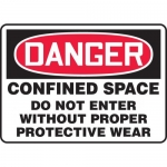 "Accuform MCSP105XL, OSHA Sign ""Confined Space Do Not Enter…"""