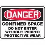 "Accuform MCSP105XP, OSHA Sign ""Confined Space Do Not Enter…"""