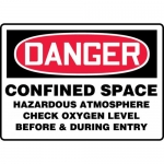 "Accuform MCSP106XL, Sign ""Confined Space Hazardous Atmosphere…."""