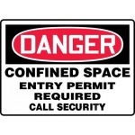 "Accuform MCSP107XL, Sign ""Confined Space Entry Permit Required…"""