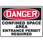 "Accuform MCSP109XP, Sign ""Confined Space Area Entrance Permit…"""