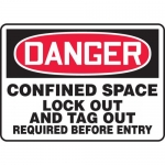"""Accuform MCSP111XP, Sign """"Confined Space Lock Out and Tag Out…"""""""