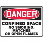 "Accuform MCSP115VA, OSHA Sign ""Confined Space No Smoking Matches…"""