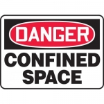 "Accuform MCSP116XP, Accu-Shield OSHA Sign ""Danger Confined Space"""