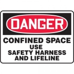 """Accuform MCSP117XV, OSHA Sign """"Confined Space Use Safety Harness…"""""""