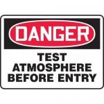 "Accuform MCSP119VA, OSHA Sign ""Danger Test Atmosphere Before Entry"""
