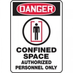 "Accuform MCSP121VA, Sign ""Confined Space Authorized Personnel…"""