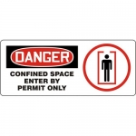 "Accuform MCSP123XL, ANSI Sign ""Confined Space Enter By Permit Only"""