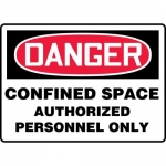 """Accuform MCSP141XP, Sign """"Confined Space Authorized Personnel Only"""""""