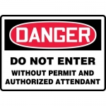 """Accuform MCSP154XL, OSHA Sign """"Do Not Enter without Permit and…"""""""