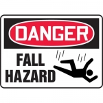 "Accuform MCSP188XL, Aluma-Lite OSHA Sign ""Danger Fall Hazard"""