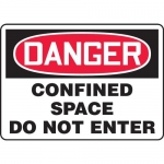 "Accuform MCSP230XV, OSHA Sign ""Danger Confined Space Do Not Enter"""