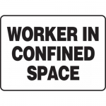 """Accuform MCSP535XP, Accu-Shield Sign """"Worker in Confined Space"""""""