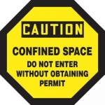 "Accuform MCSP566XL, Sign ""Confined Space Do Not Enter without…"""