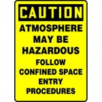 "Accuform MCSP600XL, Sign ""Atmosphere May Be Hazardous Follow…"""