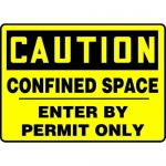 "Accuform MCSP606XL, OSHA Sign ""Confined Space Enter By Permit Only"""