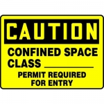 "Accuform MCSP613XL, Sign ""Confined Space Class Permit Required…"""