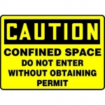 "Accuform MCSP615XL, OSHA Sign ""Confined Space Do Not Enter…"""