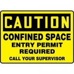 """Accuform MCSP616XV, Sign """"Confined Space Entry Permit Required…"""""""