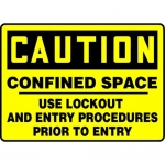 """Accuform MCSP632XP, Sign """"Confined Space Use Lockout and Entry…"""""""