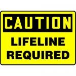 """Accuform MCSP636VA, 10″ x 14″ Aluminum OSHA Sign: """"Lifeline Required"""""""