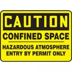 "Accuform MCSPC03XL, Sign ""Confined Space Hazardous Atmosphere…"""