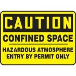 """Accuform MCSPC03XP, Sign """"Confined Space Hazardous Atmosphere…"""""""