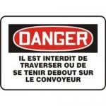 """Accuform MCST107XL, French Sign """"Il Est Interdit De Traverser Ou…"""""""