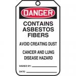 "Accuform MDT192PTP, RP-Plastic Tag ""Contains Asbestos Fibers"""
