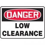 """Accuform MECR001XL, 7″ x 10″ Aluma-Lite Sign: """"Danger Low Clearance"""""""