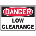 "Accuform MECR001XT, 7″ x 10″ Dura-Plastic Sign: ""Danger Low Clearance"""